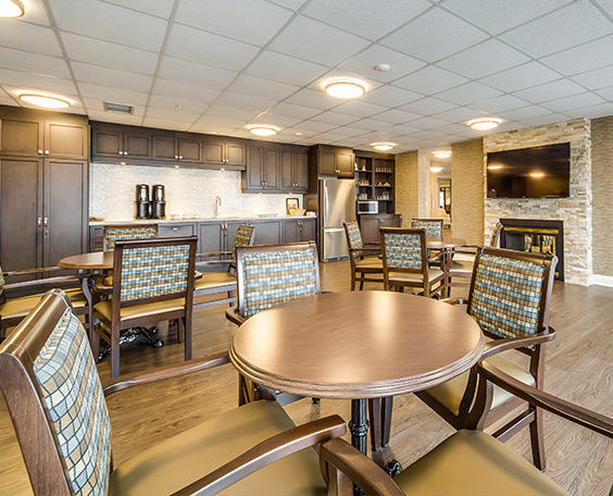 Beautiful common areas at Queens Avenue Retirement Residence