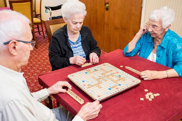 Seniors having fun at Queens Avenue Retirement Residence, Oakville